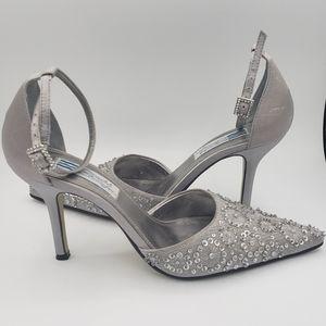 "Arnold Churgin, gray 3.5"" heels, size 7"